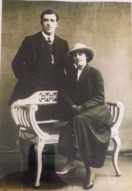 The wedding photograph of Thomas Gilroy and Rose Kavanagh, circa 1920. Courtesy of David Gilroy.