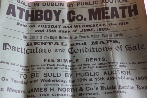 The Auction Book for the Sale of Athboy in 1909. (Source: Peter Coffey)