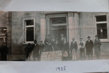1925 announcement that the RIC Barracks would become the site of Athboy's Bank of Ireland branch. Courtesy of Des White.