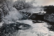 The now demolished weir at Newman's Mill. Courtesy of Des White