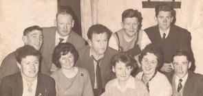 Back row : Eamonn Castles, Patsy McGurl, Frank Garrihy, Pat Cassidy, Seamus Monahan Front row : Patsy McGuinness, Mary Donegan (McKenna), Anne Fitzpatrick, Patsy Wright, John Tyrrell Courtesy Leo Wright