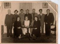 Athboy Dramatic Group, 1950/ Back Row: John Farrell, Tommy Mahon, Andy Cullen, Matt Moore, Ollie Bird, Michael Coleman, Dan Fay. Front Row: Joan Dempsey, Carmel Cullen, Kathleen Coleman