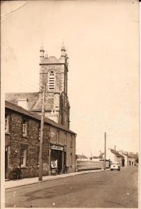 Church and Susan McCarron's shop. Date circa 1960 Courtesy Peter Coffey