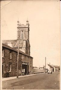 Church and Susan McCarron's shop. Date circa 1960 Courtesy Peter Coffey