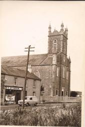 Church and Susan McCarron's shop. Date circa 1960 Courtesy of Peter Coffey