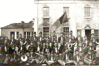 Athboy Brass Band circa 1939. Back Row: Andy Byrne, Dick McGurl (?), Pat Tuite, Joe Murphy, Johnny McClorey, Tom Coleman, Owne Garry, Willie Rabbit, ??, Joe Reilly, Alphie McConnell.Middle Row: John Farman (Bandmaster), Frank Sherlock, Patsy McGurl, Christie Tuit, Seamus Rabbit, ? Sullivan, Tom Farrell, Frank Brogan, Tom ReillyFront Row: P. Doherty, Jimmy (?) Lynch, ? Sullivan, Paddy Reilly, Martin Doherty, Mick Perry, Tom Fitzpatrick, PJ ConnellCourtesy of Des White