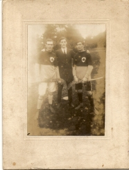 Athboy Hurlers circa 1920s - Paddy Carey, Mick Barrett, James White. Courtesy of Des White.