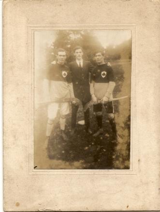Athboy Hurlers circa 1920s - Paddy Carey, Mick Barrett, James White. Courtesy of Des White.