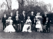 Aylmer O'Doherty, Bryan O'Doherty, Robert O'Doherty, Gerard O'Doherty, Henry Alley, Moyra Alley, Johnny Battersby, Seated: Elsa O'Doherty, Frank O'Doherty Sr, Ruth O'Doherty (Alley), Prudence Walker. Phyllis Battersby (Alley) Courtesy of Judy O'Doherty.