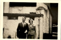 Vera Ward & Jimmy Sheridan on their wedding day at Russel Hotel, now known as The Newgrange Hotel. Courtesy of the Leavy family