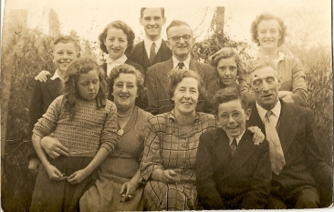 The Faulkner Family. Front row, 2nd from left: Kathleen Faulkner. Courtesy of Jackie Leavy.