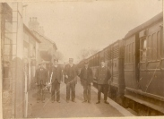 On the platform at Athboy Railway Station. Date unknown. Courtesy of David Gilroy