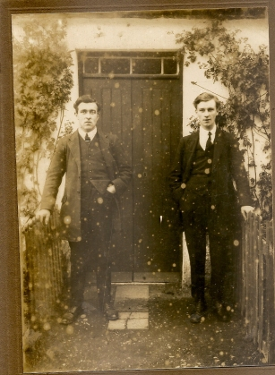 Thomas Gilroy and ??? Garry. Date unknown. Courtesy of David Gilroy.