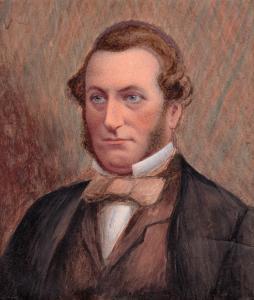 1859 portrait of Charles Parr by Mrs Archer of Burlington Road, Dublin.