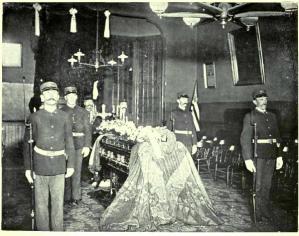 Irish Volunteers in San Francisco with O'Growney's Casket.