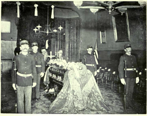 Irish Volunteers in San Francisco with O'Growney's Casket.