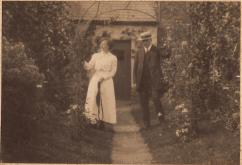 Robert Carey was the former Postmaster in Athboy. He married Frances Lewis from Ballivor in 1893. They had no children but Frances' niece, Edith Lewis lived with them. Edith married Mervyn Coffey (from Clonmellon) in 1920. Mervyn succeeded Robert Carey as Postmaster in Athboy. Courtesy of Peter Coffey