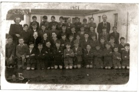Back Row: Mrs. Sheridan, John Sullivan, Noel Hoey, Tommy Walsh, John Tyrrell, Sean Holland, Tommy Ennis, Mossy Gilmore, Dessy Cassidy, Thomas Keenan (Headmaster) Third Row: Jimmy Lynch, John Lynch, John McKenna, Seamus Gantly, Pat Casserly, Jack McElhinney, Paddy Foy, Tom Hynes, Des Doherty, Frank Oaks. Second Row: Thomas Hesnan, Pat Murphy, Des White, Ollie McDonnell, Jim McKenna, Tommy Doherty, Jm May, Patsy Falconer, Billy Doran, Sean Ennis, John Keogh. Front Row: Seamus Foy, Michael Graham, Tommy Kelly, Kevin Reynolds, Noel Doherty, Dessie Reilly, Brian Hurley, Pat Collins, Cyril Faulkner, Michael McGovern, Michael Sheridan, Brendan Sullivan, Colm McDonnell Courtesy of Des White.