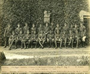Officers of the Royal Inniskilling Fusiliers with Capt. V.H Parr (seated first on left)
