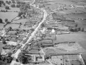 Aerial photo of Athboy dated 1955 (before the erection of the Fr O'Growney statue in 1956). On the bottom right is all that remains at that time of the walled garden of Athboy Lodge (later the site of Athboy Creamery)