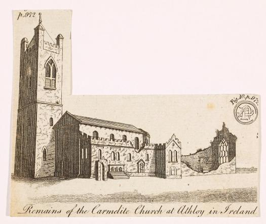 Athboy's Carmelite Church as it appeared in The Gentleman's Magazine